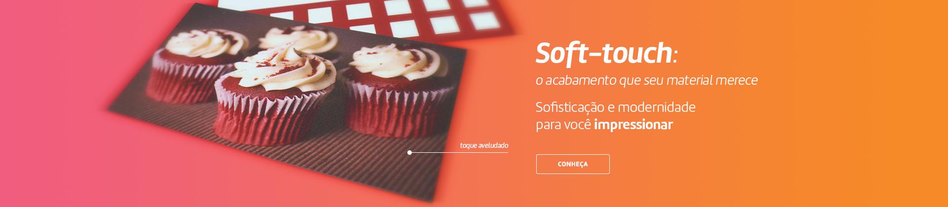 Soft Touch - O toque que faltava no seu material agora na maior gráfica do Brasil