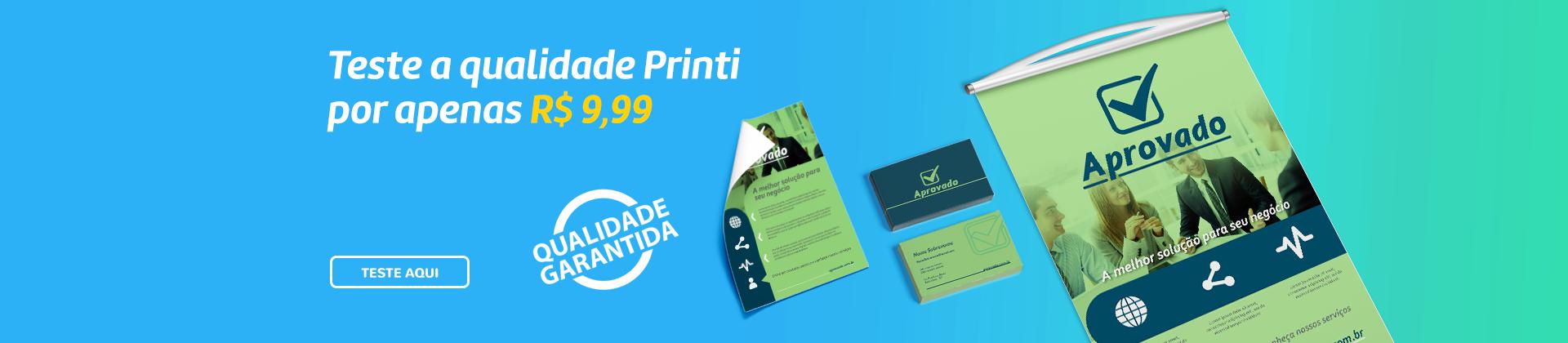 Agora a maior gráfica online do Brasil oferece produtos gráficos para você conhecer a Qualidade Printi