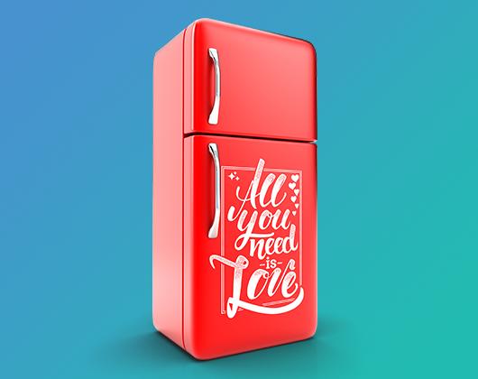Faça adesivos de geladeira online