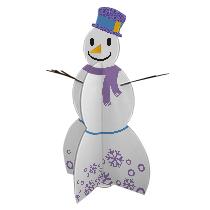Imprimir boneco de neve de papelão