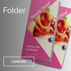 Folders promocionais na Printi