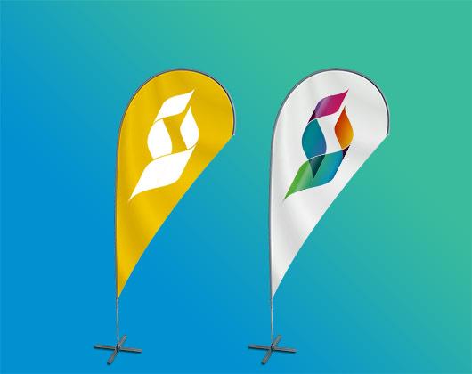 Custom Teardrop Flags & Banners | Teardrop Flag Printing