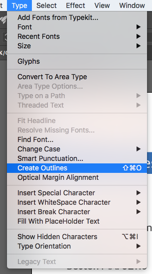 Using fonts in your texts in Illustrator | Printi