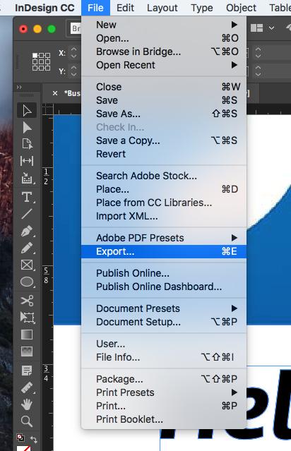 How to generate a PDF / X-1A file in InDesign | Printi