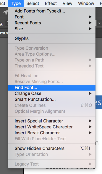 Using fonts in your texts in Illustrator   Printi
